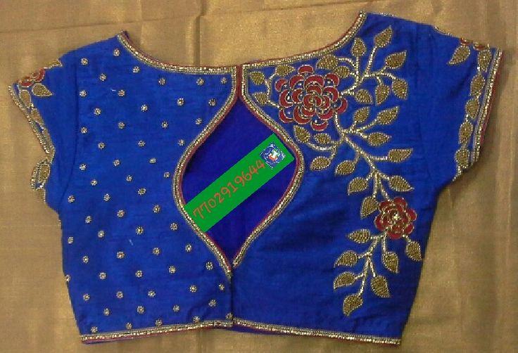 Rawsilk blouse with zardosi work 7702919644