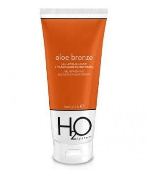 H2O System Aloe Bronze Gel Bronceado, 200 ml.