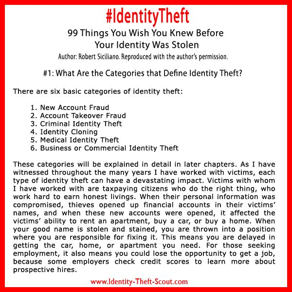 ... type of identity theft you are dealing with. Learn more about Ident