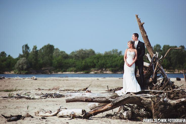 plener ślubny z Wisłą w tle :)