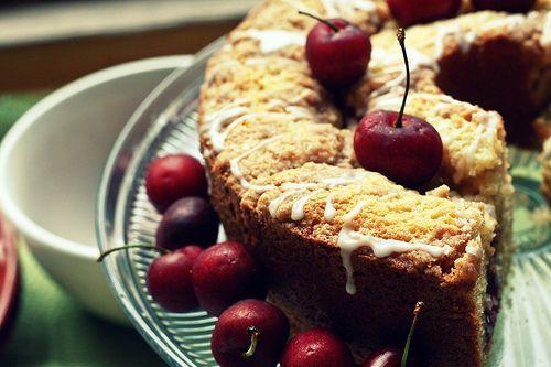 Cherry: Cherries Recipes, Cherry Coffee Cakes, Sweet Cherries, Sweet Treats, Dark Sweet, Sweet Tooth, Cherries Coff Cakes, Cherries Coffee Cakes, Ten Cherries