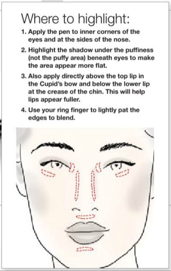 Where To Highlight Your Face Very Helpful Use A Facial