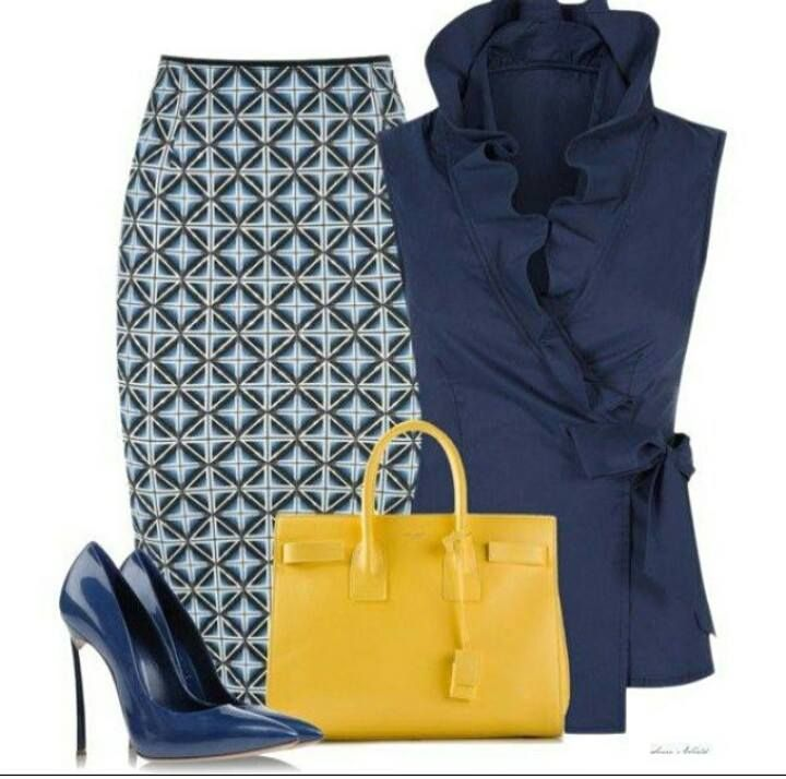 I like the pattern of the skirt and the shirt style. It's different and fun
