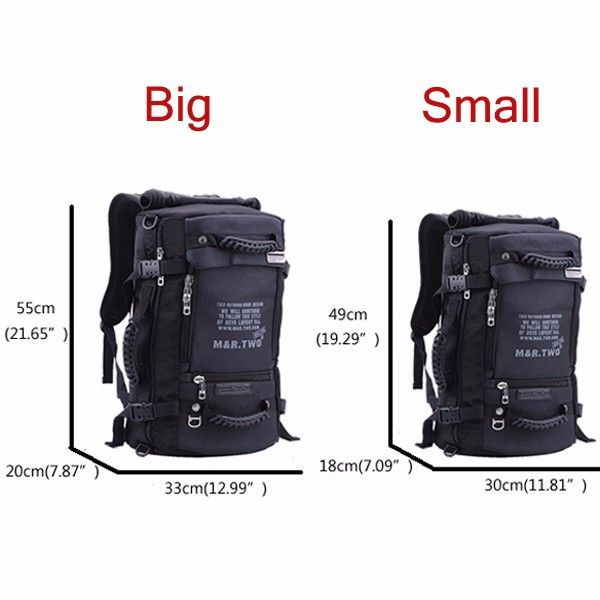 MRTWO Men Large Capacity Backpack Sport Travel Outdoor Bags Rucksack Online - NewChic Mobile.