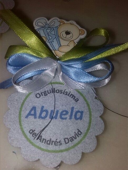 Distintivo para el baby shower de Andrés David.