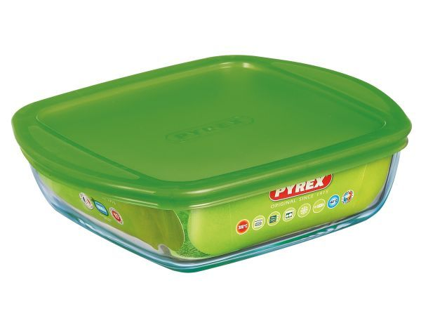 Pyrex Cook & Store Square Dish with Lid - Pyrex glassware has been trusted…
