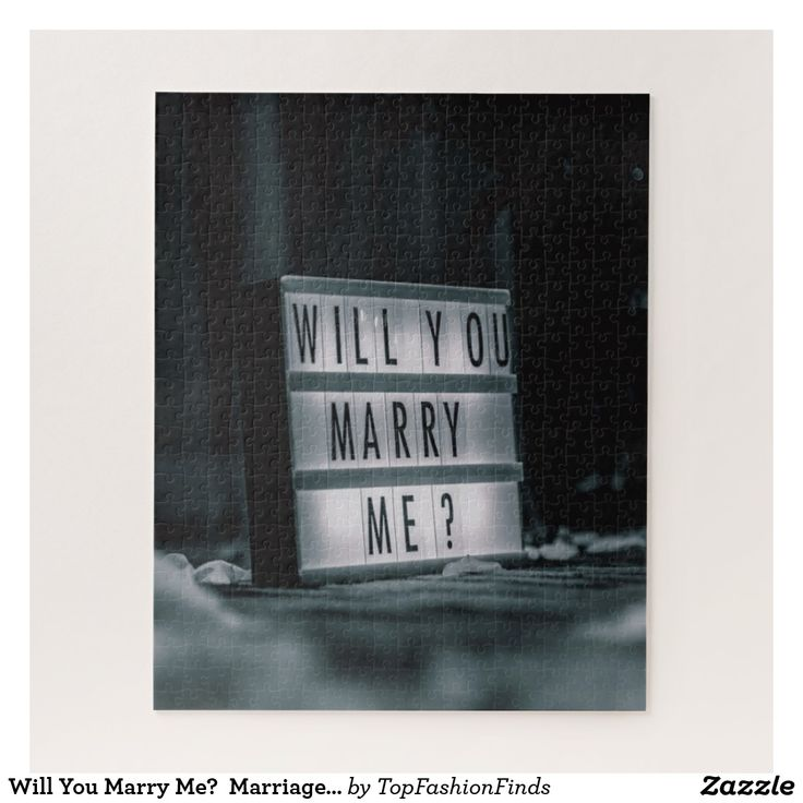 Will You Marry Me? Marriage Proposal Romantic Jigsaw Puzzle | Zazzle.com
