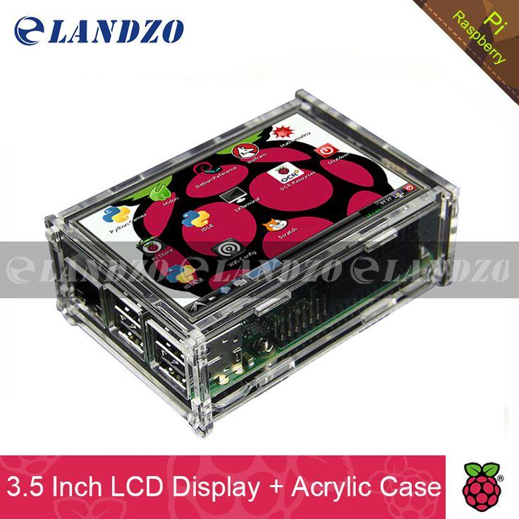 """3.5 بوصة العرض 3.5 """"شاشة lcd tft شاشة اللمس ل التوت pi 2/مجلس التوت بي 3 نموذج b + الاكريليك القضية + ستايلس"""