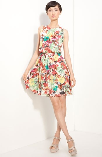 Alice + Olivia floral print dress- for Oahu!