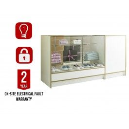 "<div class=""collapsible""><p class=""bullet-title heading"">Durable</p><div class= ""block-content""style=""display: block;""><ul class=""bullet""><li>MDF construction and toughened glass, shelves and outer glass.</li></ul></div></div><div class=""collapsible""><p class=""bullet-title heading"">Eye catching</p><div class= ""block-content""style=""display: block;""><ul class=""bullet""><li> Internal light and glass top highlight products and attracts attention.</li></ul></div></div><div class=""collapsible""><p…"