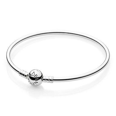Pandora Sterling Silver Pandora Bangle Bracelet, $75 #ZekesWishList