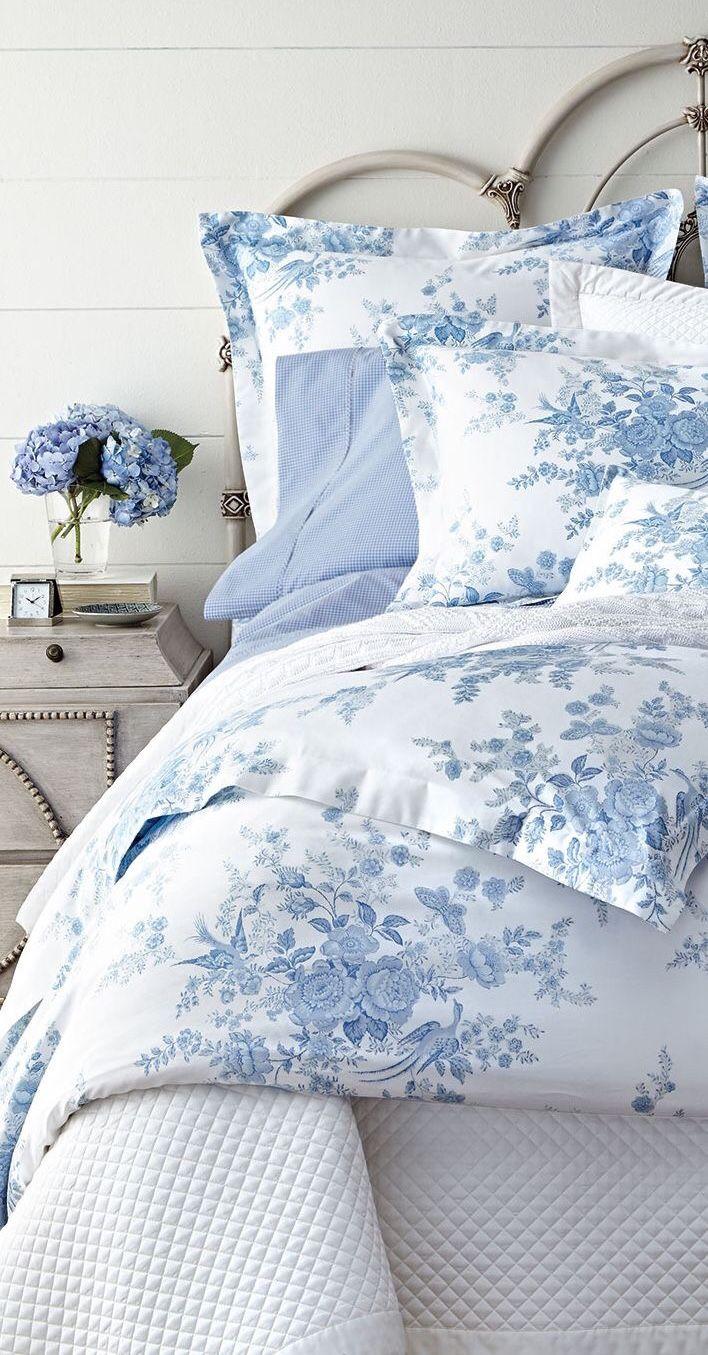 light blue flowers coastal bedrooms