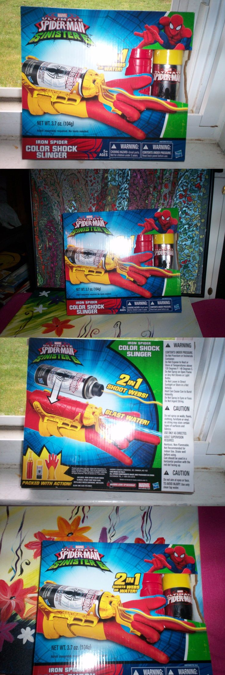Spider-Man 146094: Nib Marvel Ultimate Spider Man Sinister 6 Color Shock Slinger 5+ 2 In1 -> BUY IT NOW ONLY: $30 on eBay!
