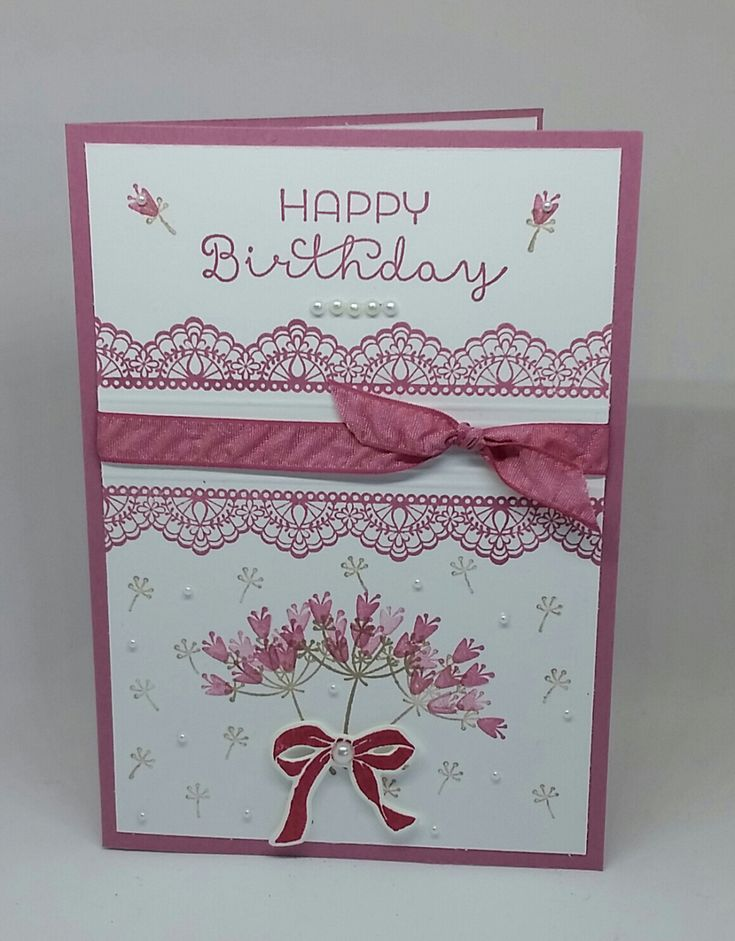Stampin' Up! Demonstrator stampwithpeg : Sale-a-bration Wednesday : The Delicate Details of Falling for You – Birthday Card.