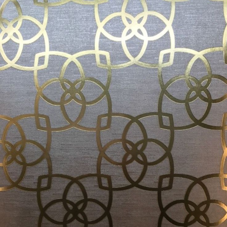 Grey and Gold Geometric Wallpaper Serendipity Art Deco Paste the Wall Y6200204