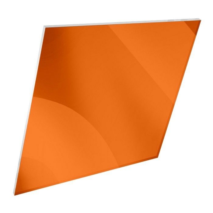3mm Acrylic Mirror Orange Sheet - Acrylic Mirror Sheet | Plastic Sheets Direct
