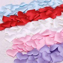 50ks Fabric Heart průměru 2 cm Wedding Party Confetti na balóny fillingTable dekorace narozeniny dekorační doplňky (Čína (pevninská část))