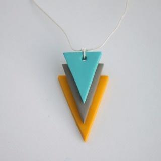 DIY geometric necklace pendant