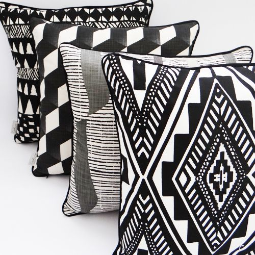 Zalenga - Black - Cushion Covers available online at www.carolenevin.com