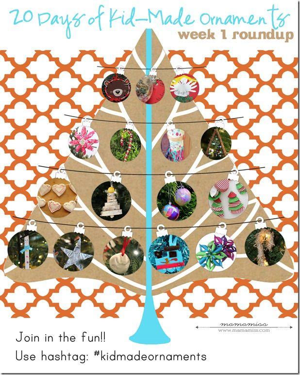 20 Days of a Kid-Made Ornaments Week 1 | @mamamissblog #kidmadeornaments #kidmadechristmas