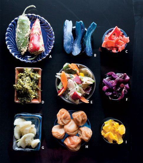 The variety and deliciousness of tsukemono, traditional Japanese pickles. http://www.saveur.com/article/kitchen/Saveur-100-Tsukemono-Japanese-Pickles?src=twitter