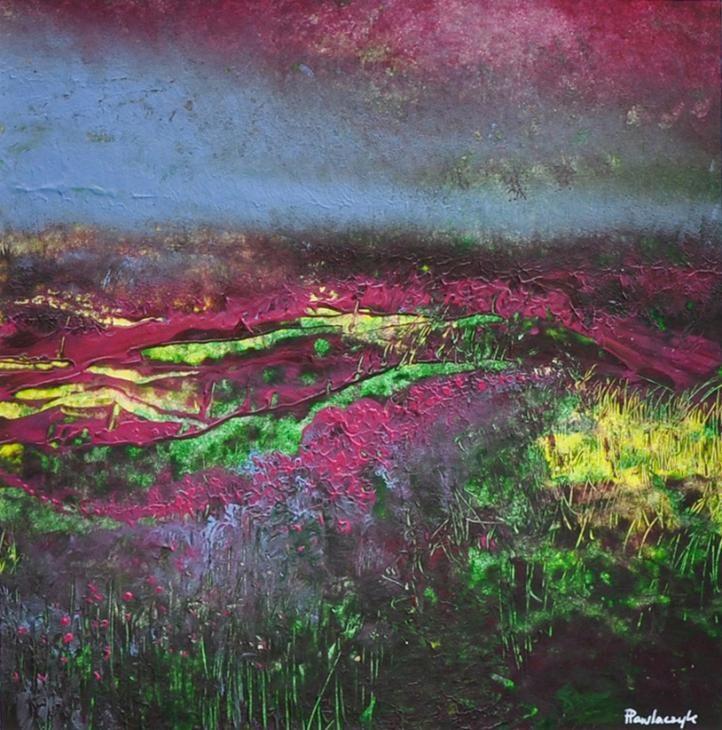 Acrylic on paper by Izabela Pawlaczyk.