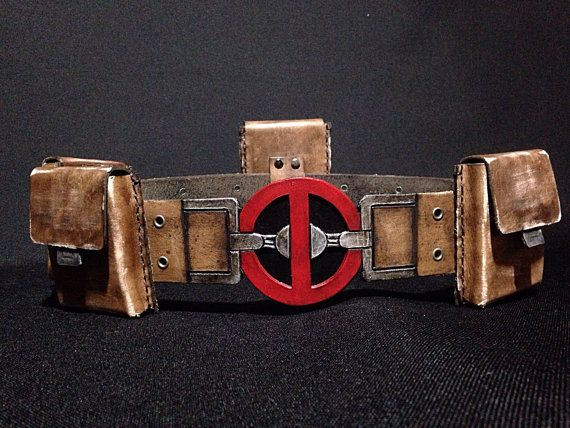 Deadpool Costume Belt and Pouches by GearBoxLeather on Etsy