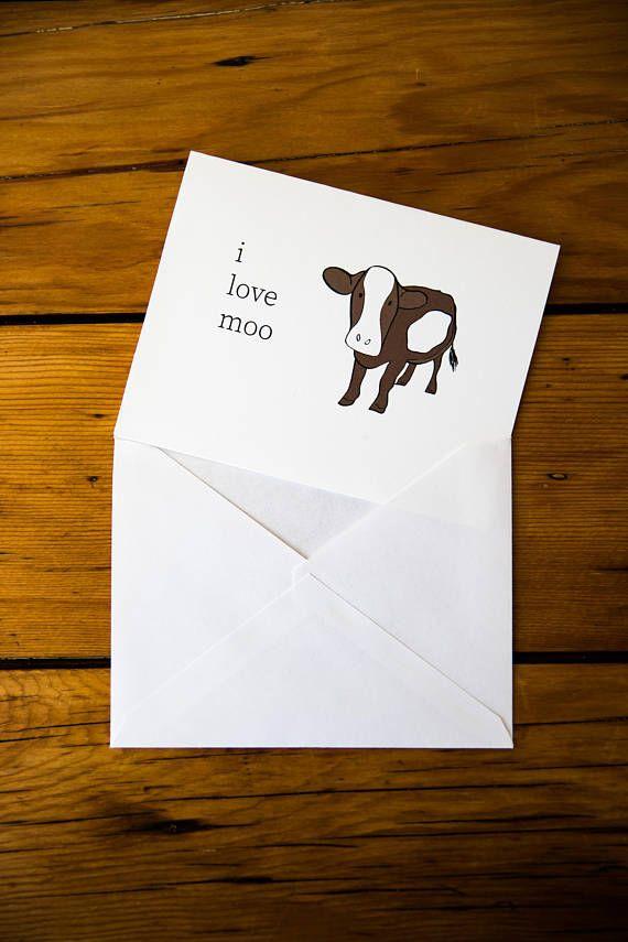 Printable Greeting Card Download Love You Card Cute Animal