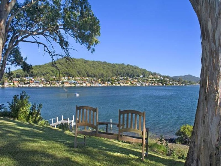 Daleys Point house: view over Brisbane Water.