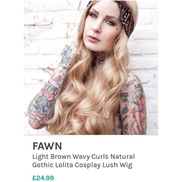 The always amazing and beautiful @xkatygoldx in Lush Wigs Fawn! This wig is a beautiful light brown dark blonde. #fawn #lushwigs #lushwigsfawn #wig #katygold #wigs #lushwig #altmodel Buy this wig now from www.lushwigs.com