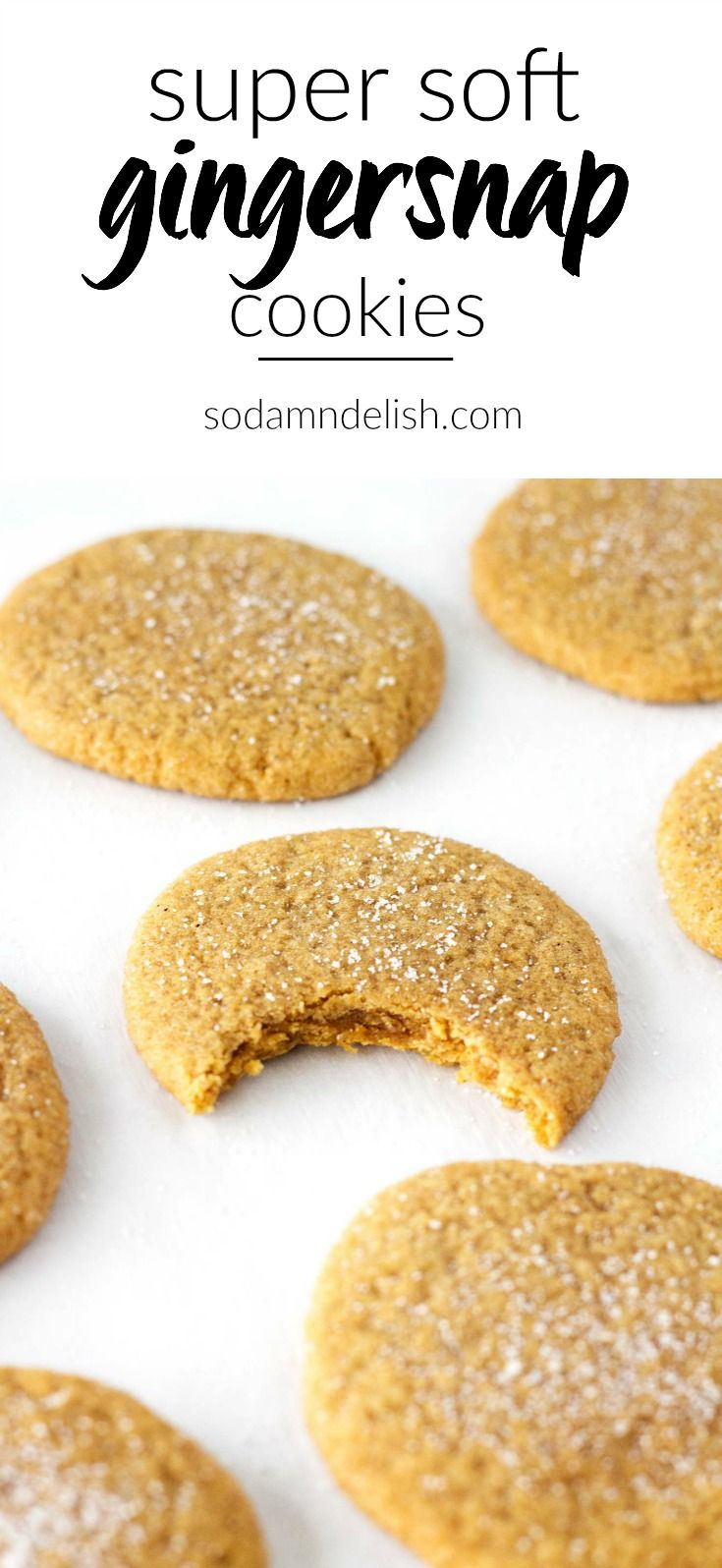 These super soft gingersnap cookies melt in your mouth with all that gingersnap goodness!