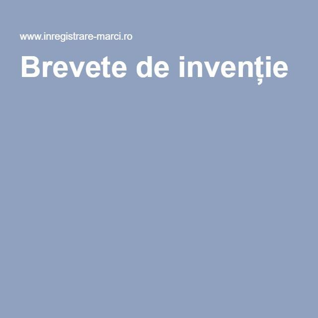 Brevete de invenție