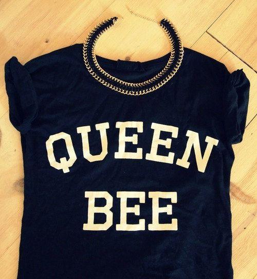 Queen Bee Black tshirt for women tshirts shirts by Stupidfashion, $20.00