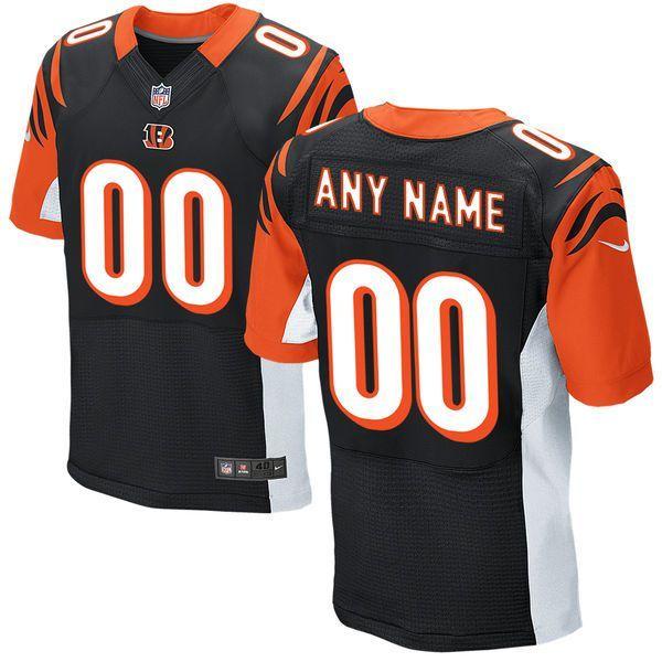 Men Cincinnati Bengals Nike Black Custom Elite NFL Jersey ... 6373fd766