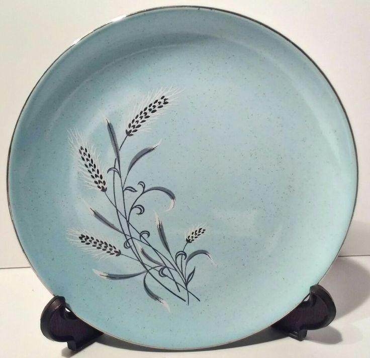 "Taylor Smith Taylor Pebbleford Blue 1- 6 3/8"" Bread Butter plate 1950's vintage #TaylorSmithTaylor"