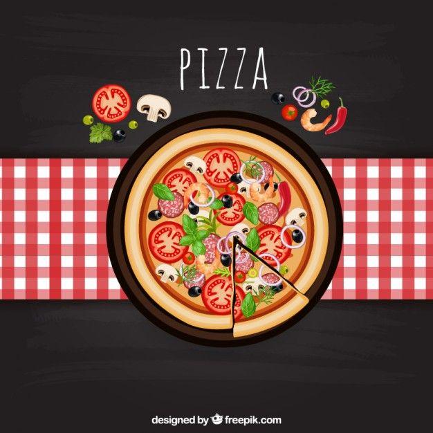 Pizza italiana Vector Gratis