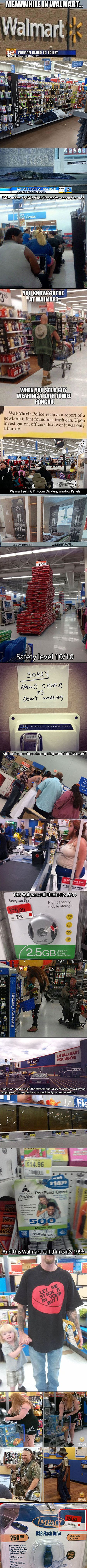 Walmart is great for deals and apparently, spotting strange people as well as random things.