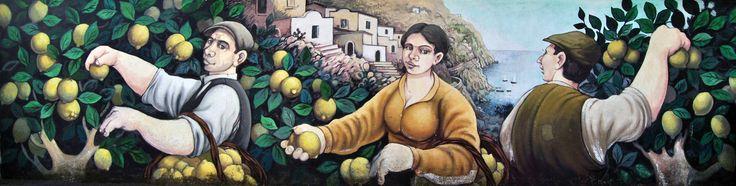 #furorepaesedipinto : I #limoni della #costadamalfi - #murales di #Furore - #amalficoast