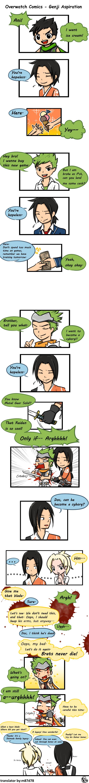 Overwatch Comics - Genji Aspiration #genji #hanzo #mercy #overwatch #overwatchcomics
