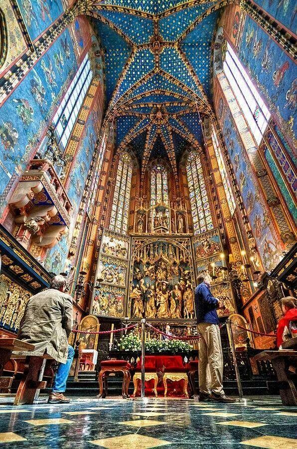 St Mary's Church, Krakow, Poland