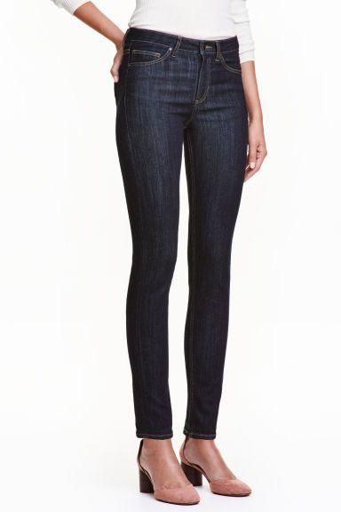 Slim Regular Jeans - Dark denim blue - Ladies | H&M GB 1