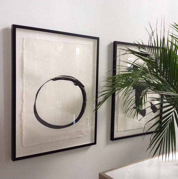 Love these original works of Max Gimblett framed in black. A phenomenally inspiring artist. ScX