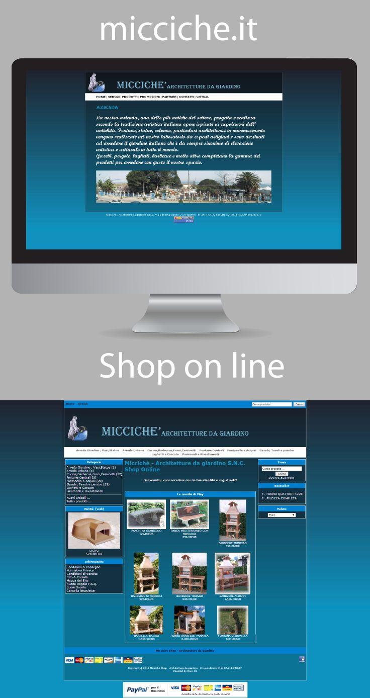 Miccichè - #Architetture da #giardino #Palermo Progettazione e #realizzazione #sito web vetrina con sistema #e-commerce , web design
