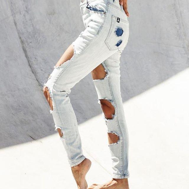 Blondie Ice Blue Rip Riot Jeans! In stores soooon xxx #denim #jeans #ripjeans #rippedjeans #rippeddenim #skate #punk #designer #fashion