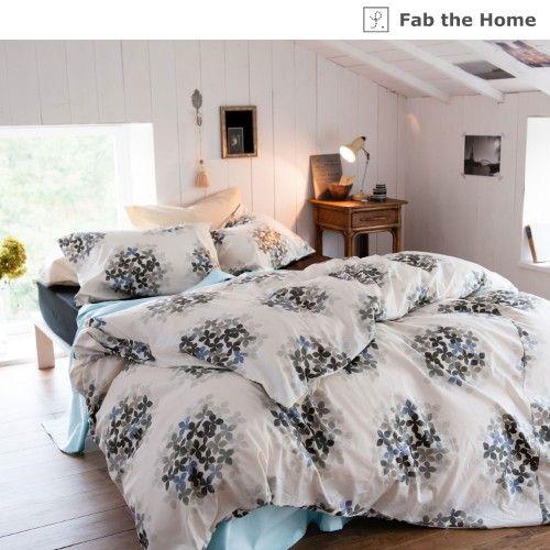おすすめ 布団カバー おしゃれ 通販のベルメゾンネット 綿100%のラメプリント枕カバー・掛け布団カバー(単品)<フロゥリー>(Fab the Home)