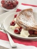 Chocolate Souffle Omelette with Berries and Yoghurt
