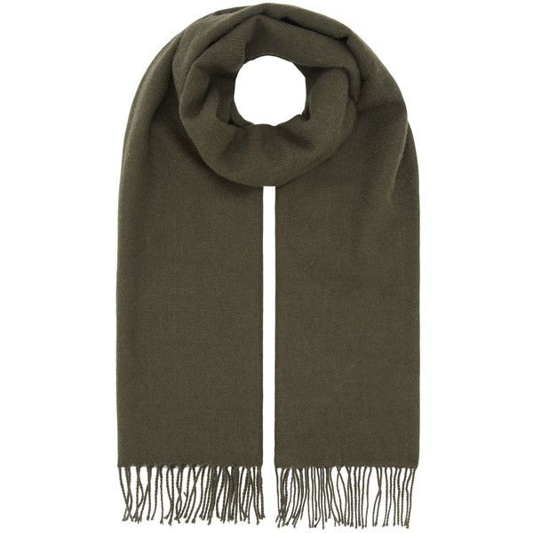 Accessorize Opp Blanket Scarf (260 SEK) ❤ liked on Polyvore featuring accessories, scarves, blanket scarf, tassel scarves and accessorize scarves