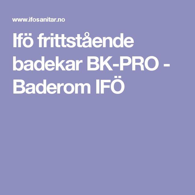 Ifö frittstående badekar BK-PRO - Baderom IFÖ