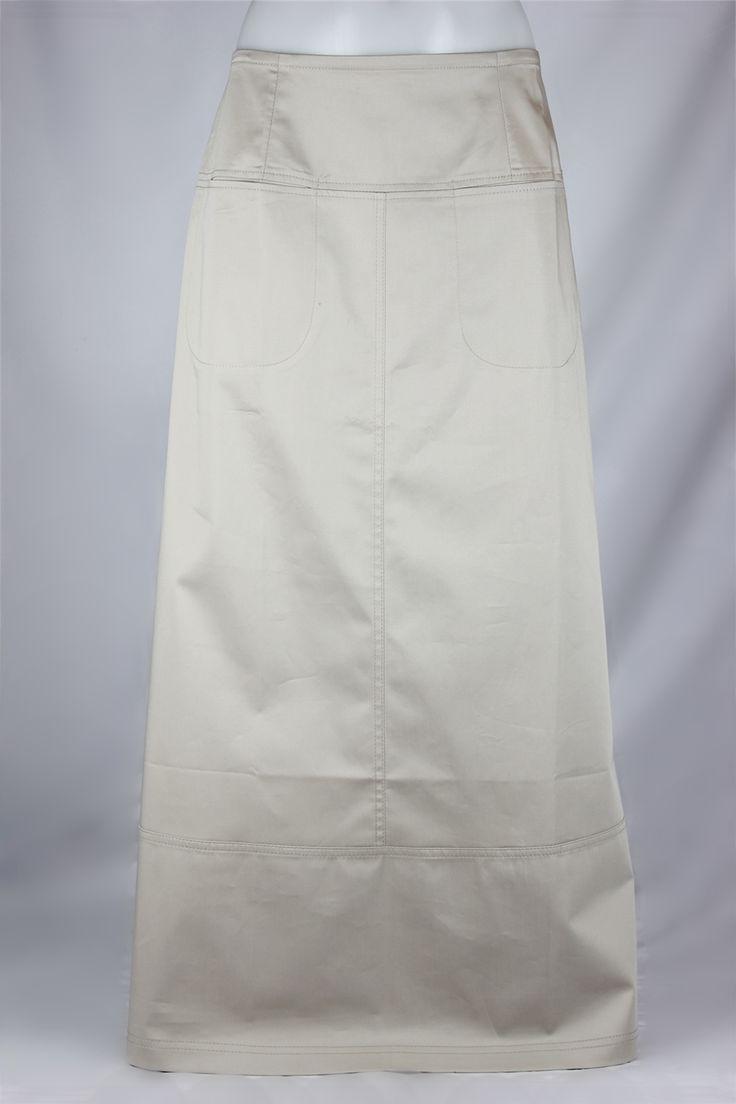 Siri Putty Long Khaki Skirt, Sizes 6-18