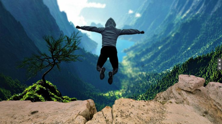 motivation prezi template with a leap concept  man jumping